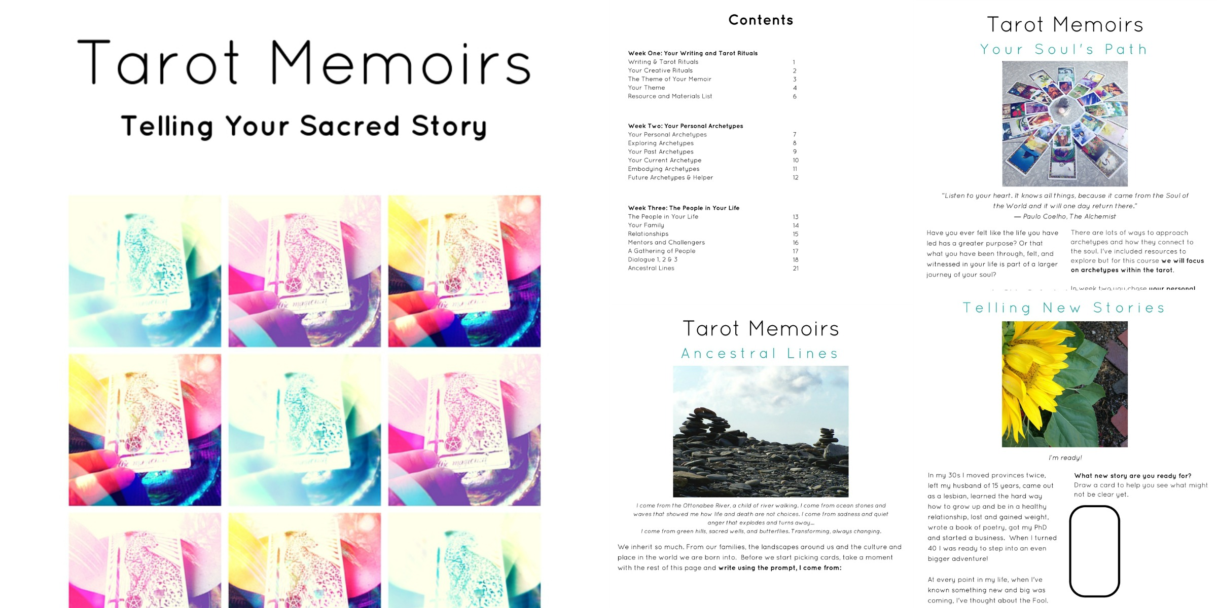 Tarot Memoirs Preview of Workbook