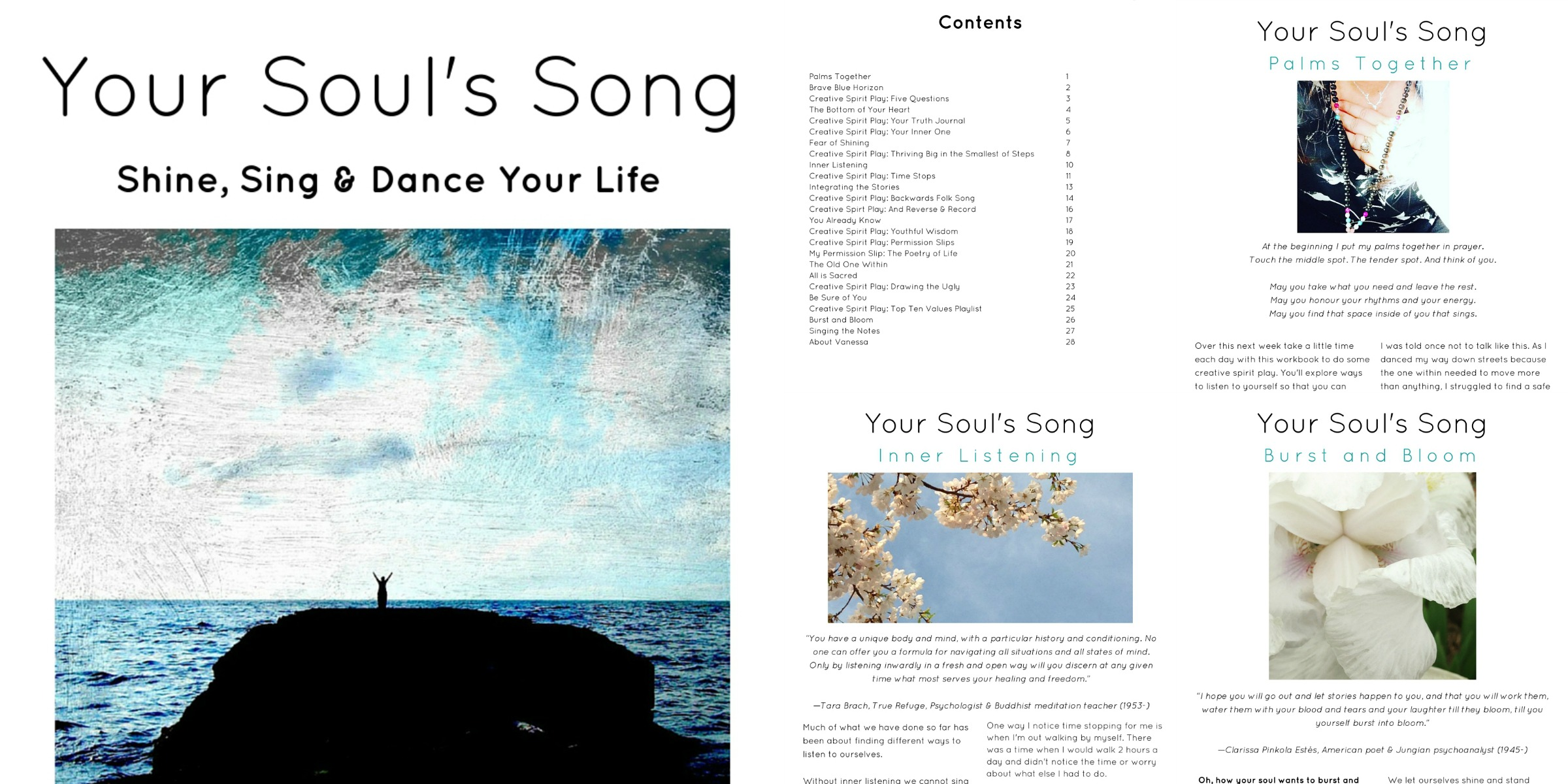 Your Souls Song Workbook Collage